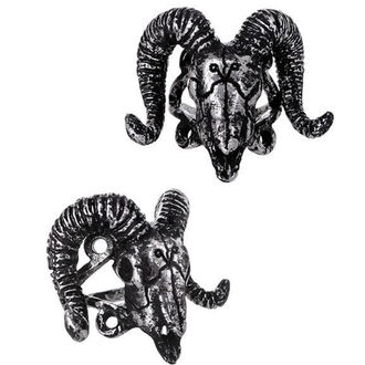 prsteň RESTYLE - Ram Skull Silver - RES020