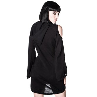 šaty dámske KILLSTAR - Dee spare Distress Dress - Black - KIL294