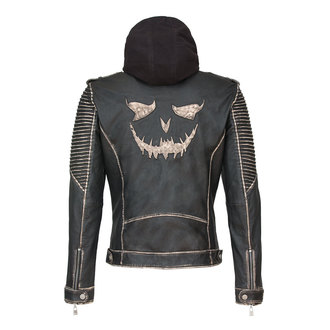 bunda pánska Suicide Squad Leather Jacket Joker Size