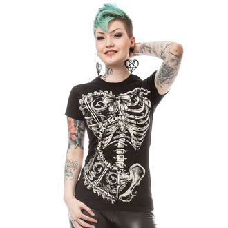 tričko dámske POIZEN INDUSTRIES - BONE CORSET T - BLACK, POIZEN INDUSTRIES