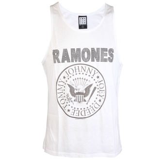 tielko pánske RAMONES - LOGO SILVER DIAMANTE - WHITE - AMPLIFIED - AV319RLS