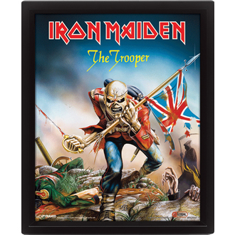 3D obraz Iron Maiden - The Trooper, PYRAMID POSTERS, Iron Maiden
