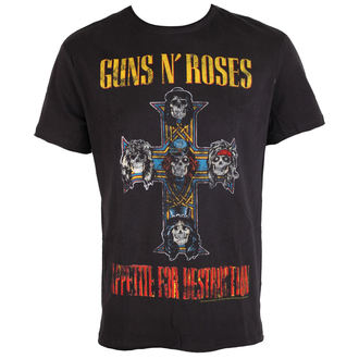 tričko pánske Guns N' Roses - APPETITE FOR DESTRUCTION TOUR - Charcoal - AMPLIFIED, AMPLIFIED, Guns N' Roses