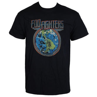 tričko pánske Foo Fighters - Globe - Black - LIVE NATION, LIVE NATION, Foo Fighters