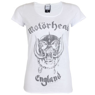 tričko dámske AMPLIFIED - MOTORHEAD - ENGLAND - WHITE, AMPLIFIED, Motörhead