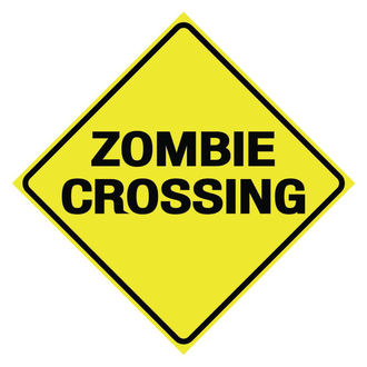 ceduľa Zombie Crossing