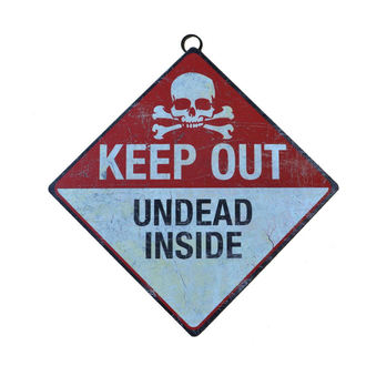 ceduľa Keep Out- Undead Inside