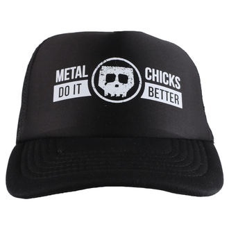šiltovka METAL CHICKS DO IT BETTER - Skull - Logo - Black, METAL CHICKS DO IT BETTER