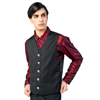 vesta pánska Aderlass - Dark Veste Pin Stripe Black-White, ADERLASS