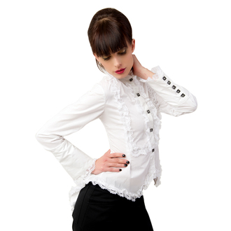 blúzka dámska Aderlass - Wing Blouse Fine Denim White, ADERLASS
