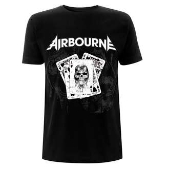 tričko pánske Airbourne - Playing Cards - Black, NNM, Airbourne