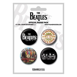 odznaky The Beatles (White) - PYRAMID Posters - BP80123