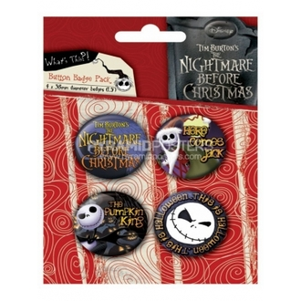odznaky - Nightmare Before Christmas (Jack) - BP80303 - Pyramid Posters