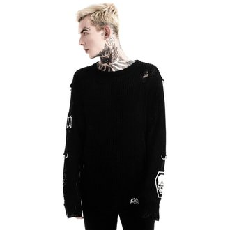 sveter (unisex) KILLSTAR - Haight You Knit - Black, KILLSTAR