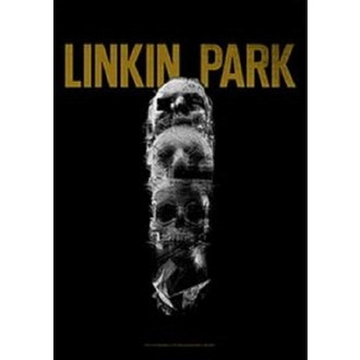 vlajka Linkin Park - Living - Skull Totem, HEART ROCK, Linkin Park