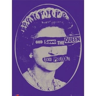 plagát - SEX PISTOLS - Gog Save the Queen - LP1034 - GB posters