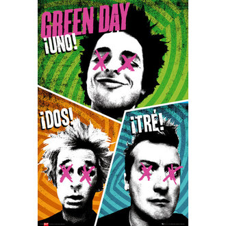 plagát Green Day - Trio - GB Posters, GB posters, Green Day