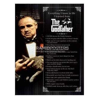 plagát - The Godfather (Everything I Know) - PP31625 - Pyramid Posters