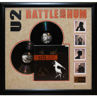 LP s podpisom U2 - Rattle and Hum, ANTIQUITIES CALIFORNIA, U2