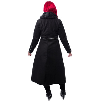 kabát dámsky POIZEN INDUSTRIES - ADERYN COAT - BLACK, POIZEN INDUSTRIES