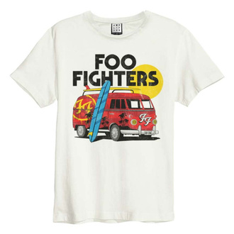 tričko pánske FOO FIGHTERS - CAMPER VAN - VINTAGE WHITE - AMPLIFIED, AMPLIFIED, Foo Fighters