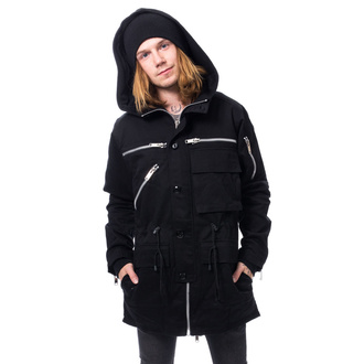 bunda pánska CHEMICAL BLACK - BASTIAN PARKA - BLACK, CHEMICAL BLACK