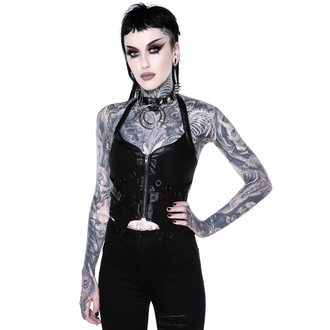 tielko dámske (korzet) KILLSTAR - Cadaver Zip Top - BLACK, KILLSTAR