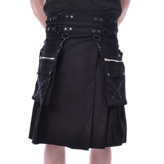 kilt pánsky Poizen Industries - CATO - BLACK, POIZEN INDUSTRIES