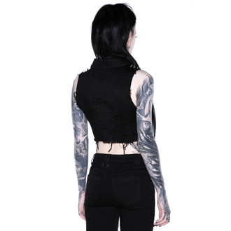 vesta dámska KILLSTAR - Come Undone Denim Vest, KILLSTAR