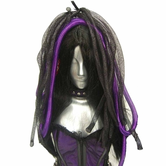 příčesek POIZEN INDUSTRIES CYBER LOX WIGS BLACK/PURPLE, POIZEN INDUSTRIES