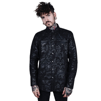 košele pánska KILLSTAR - Dark Ocean Button - BLACK, KILLSTAR
