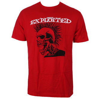 tričko pánske EXPLOITED - SKULL LOGO - RED - JSR, Just Say Rock, Exploited