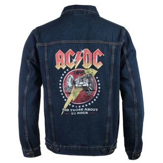 bunda pánska AC/DC - About To Rock - DENIM - ROCK OFF, ROCK OFF, AC-DC