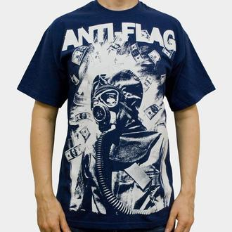 tričko pánske Anti Flag (Gasmask) - KINGS ROAD - Blue Navy - 00160