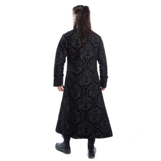 kabát pánsky POIZEN INDUSTRIES - MONARCH - BLACK BROCADE, POIZEN INDUSTRIES