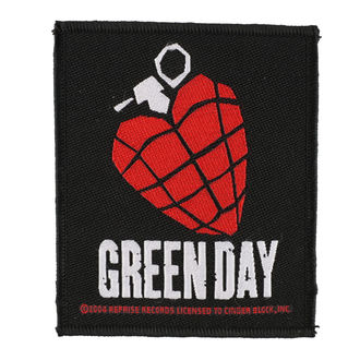 nášivka GREEN DAY - HEART GRENADE 1 - RAZAMATAZ, RAZAMATAZ, Green Day