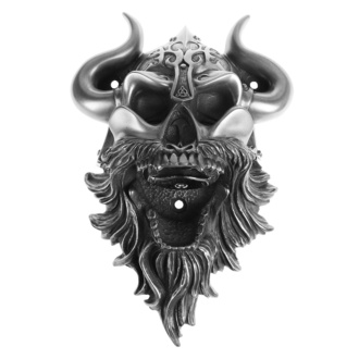 otvárač (nástenný) Viking - Skull (Silver Finish) - BEER BUDDIES, BEER BUDDIES