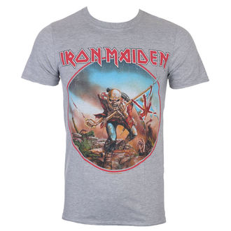 tričko pánske Iron Maiden - Trooper - Grey - ROCK OFF - IMTEE68MG