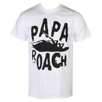 tričko pánske Papa Roach - Classic Logo - White - KINGS ROAD, KINGS ROAD, Papa Roach