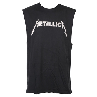 tielko unisex Metallica - White Logo - Charcoal - AMPLIFIED, AMPLIFIED, Metallica