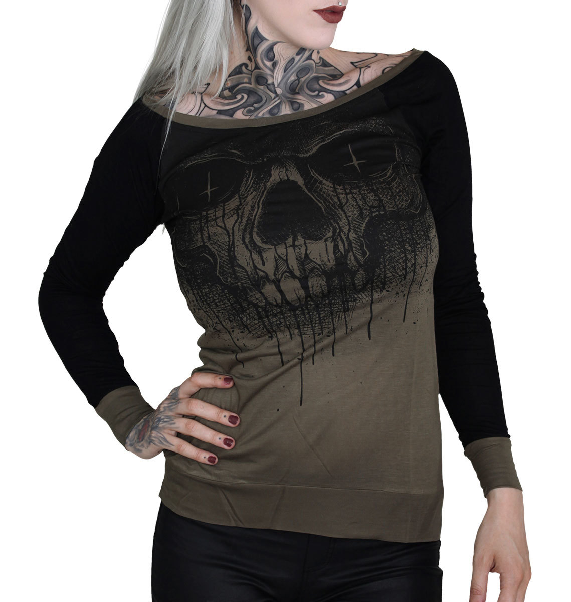 d7d7f68ed91e tričko dámske s dlhým rukávom HYRAW - CRIME - HY364 - metalshop.sk