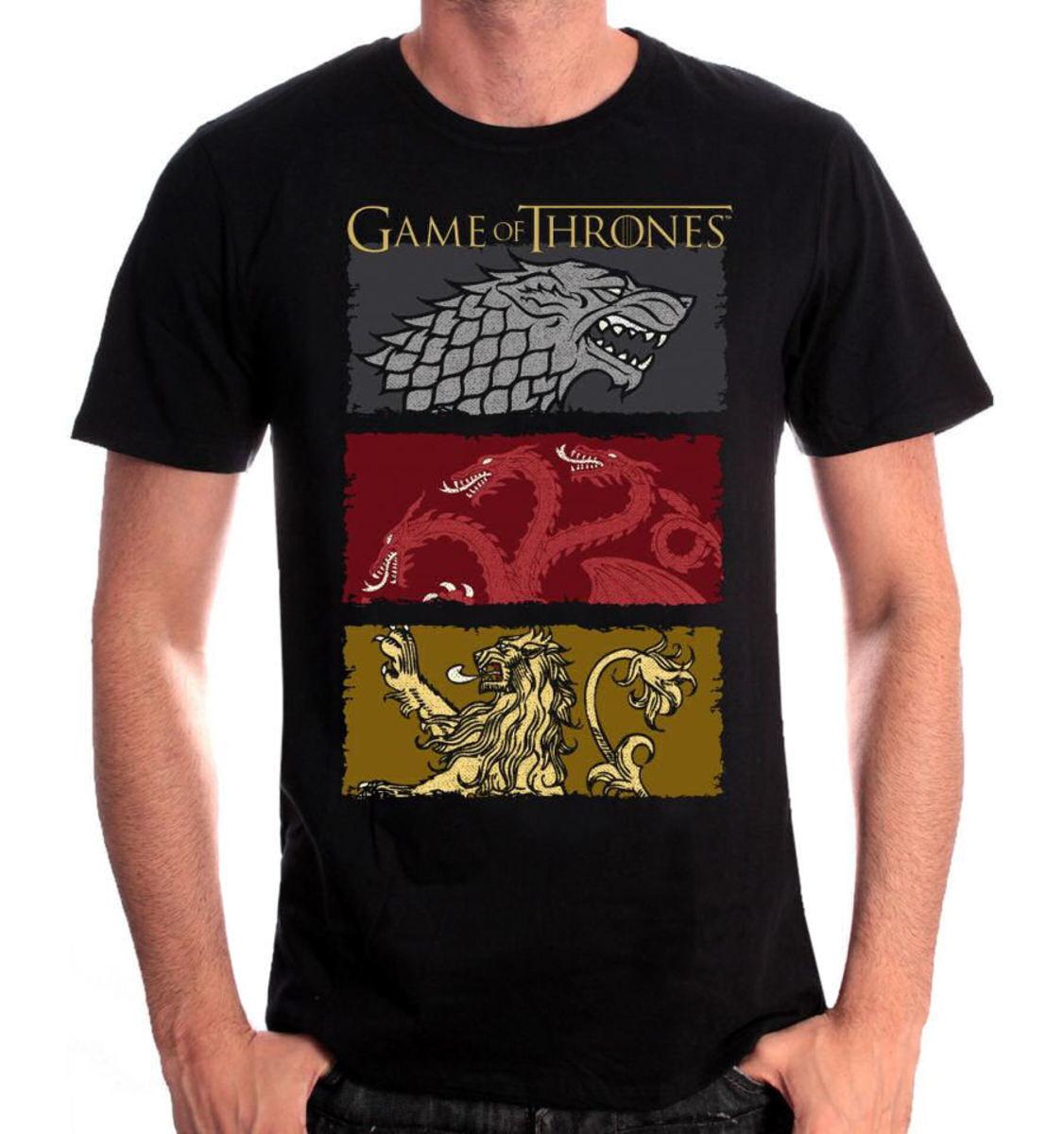 tričko pánske Game of thrones - THE HOUSES OF THE KING - BLACK - LEGEND - MEGOFTDTS001