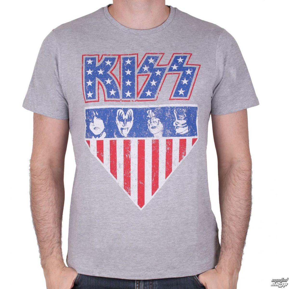 e57a409e39e2 tričko pánske KISS - AMERICAN STYLE - GREY - LEGEND - MEKISSRTS008 ...