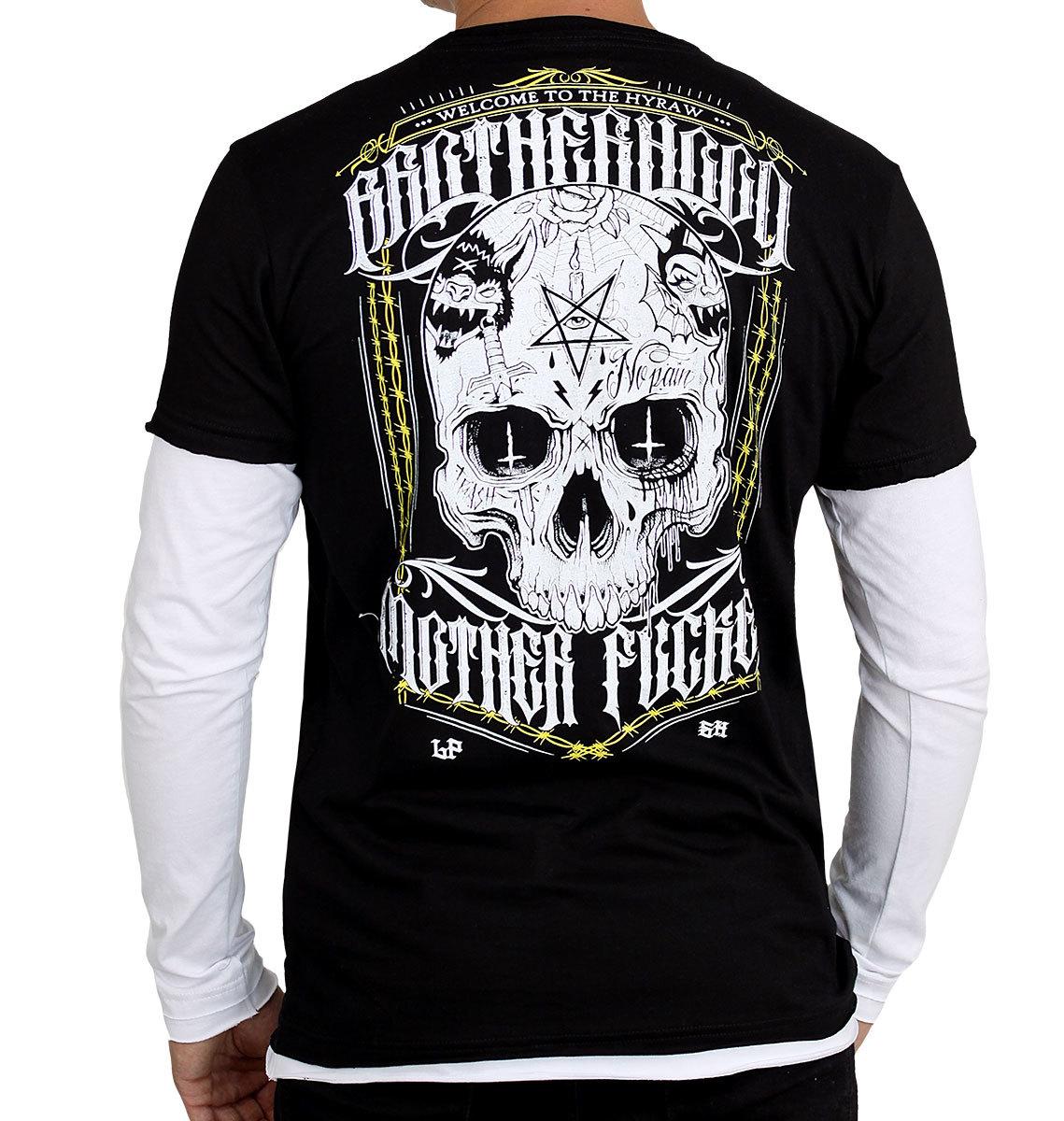 tričko pánske s dlhým rukávom HYRAW - BROTHERHOOD - HY353