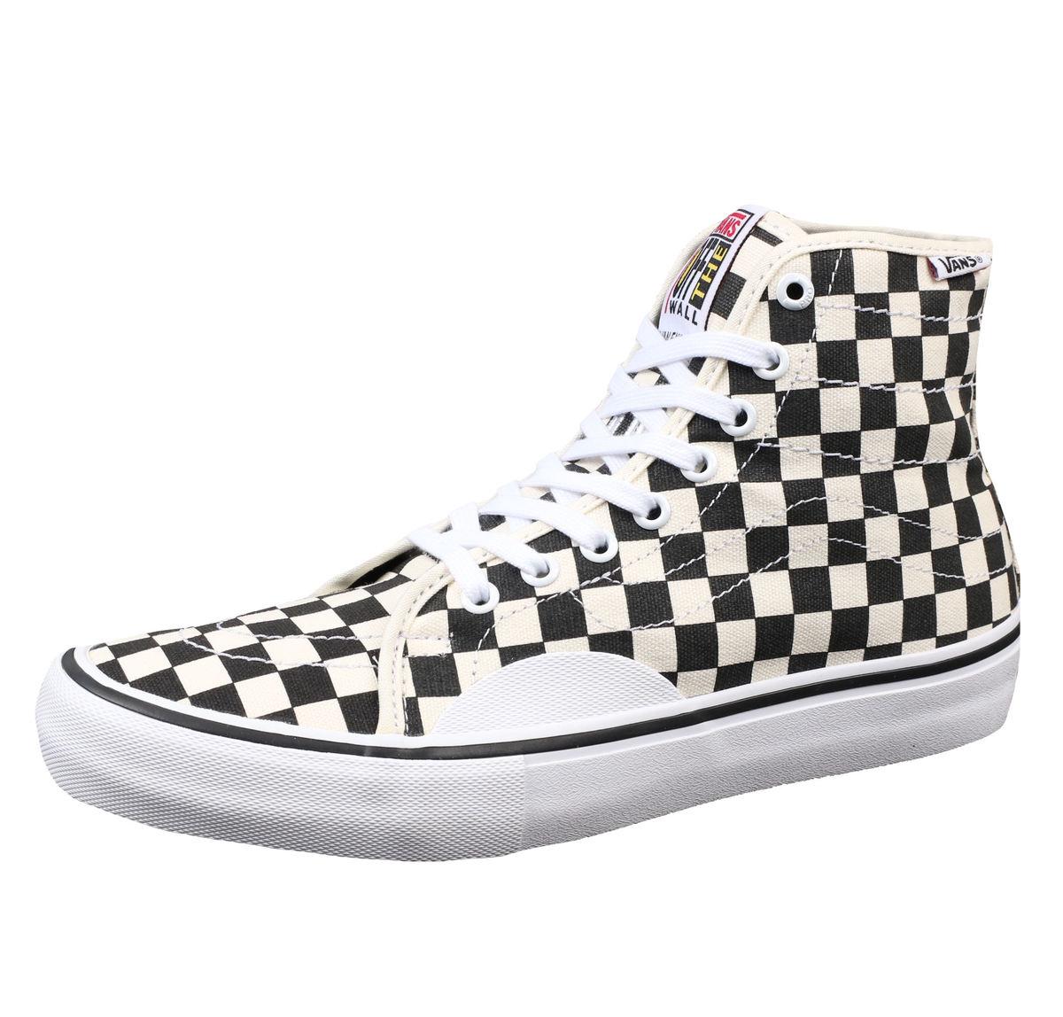 topánky VANS - MN AV CLASSIC HIGH P (Chckrbrd) - Black/White - VA38C1APK