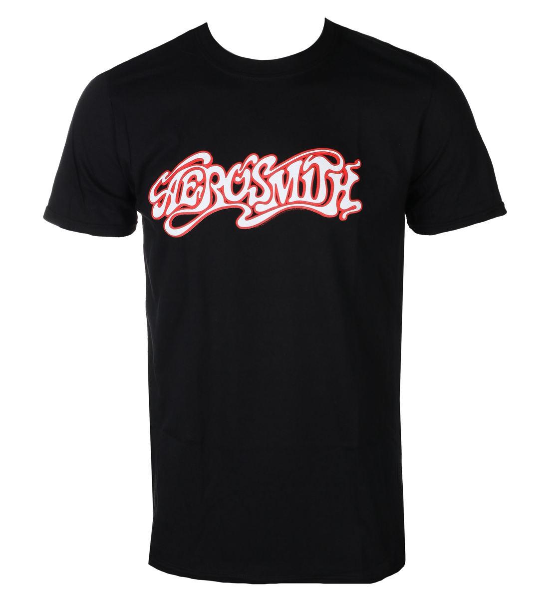 tričko pánske AEROSMITH - LOGO - Black - PLASTIC HEAD - PH10530
