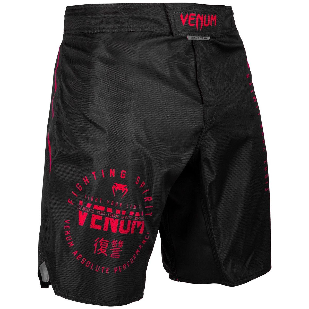 boxerské kraťasy VENUM - Signature Fightshorts - Black / Red - VENUM-03651-100