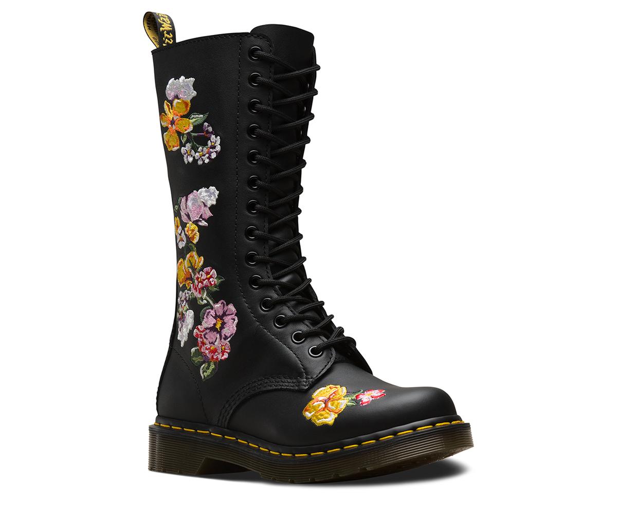 topánky DR. MARTENS - 14 dierkové - Vonda 1914 BLACK - DM24062001