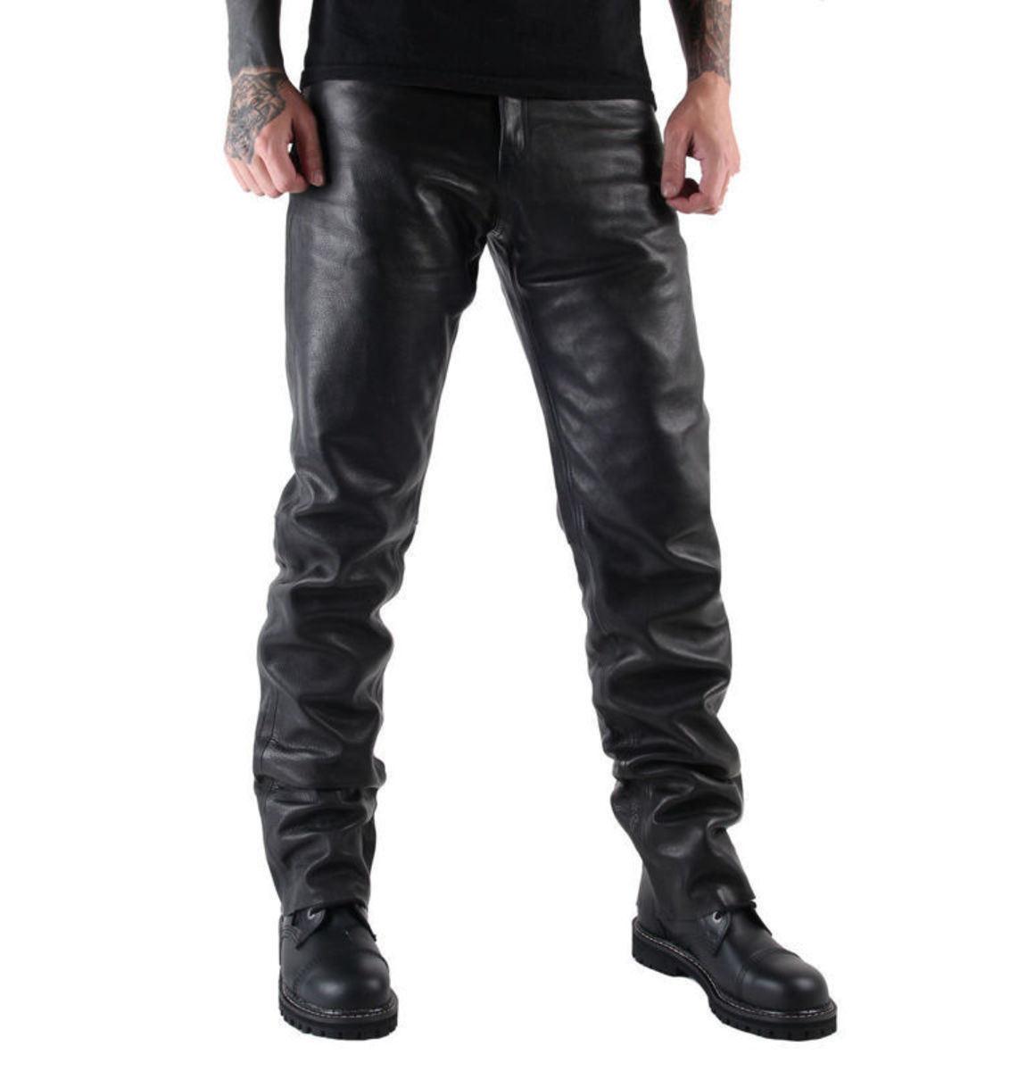 nohavice kožené pánske MOTOR - 501