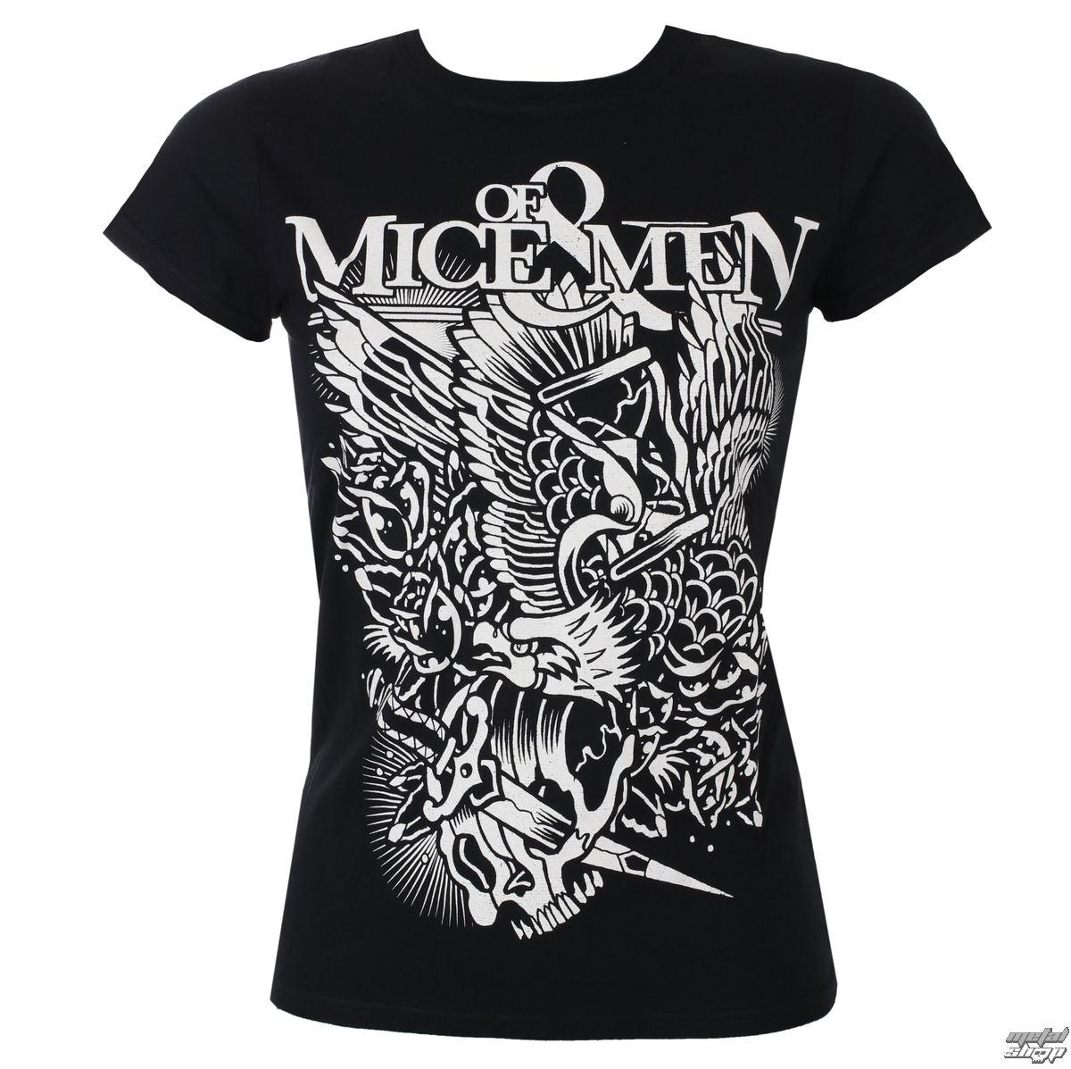 tričko dámske Of Mice & Men - Eagle - Black - ROCK OFF - OMMTS14LB